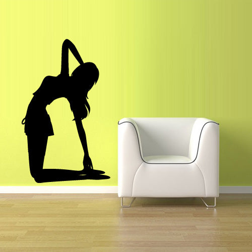 Wall Decal Vinyl Decal Sticker Decor Art Bedroom Decal Nursery Gymnastic Yoga Dancer Silhouette  z2501
