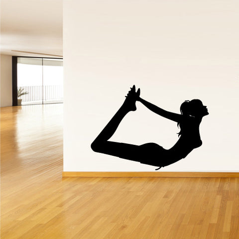 Wall Decal Vinyl Decal Sticker Decor Art Bedroom Decal Nursery Gymnastic Yoga Namaste Dancer Silhouette  z2504