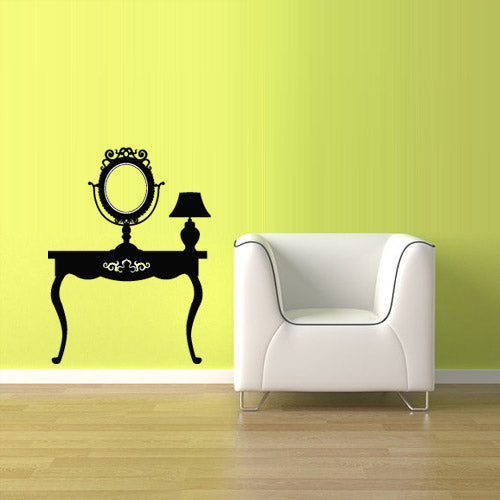 Wall Vinyl Decal Sticker Decals Haircut Salon Scissors Dryer Manicure Table  z2617