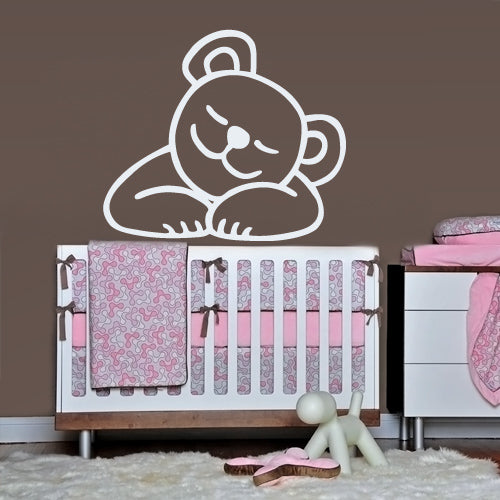 Wall Vinyl Decal Sticker Bedroom Decal Nursery Baby Kids Crib Bear  z2664
