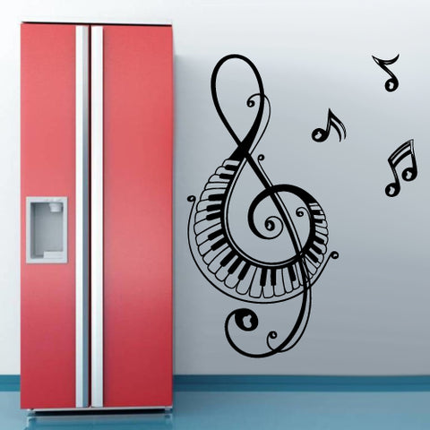 Wall Vinyl Decal Sticker Note Music Audio Headphones  z2673