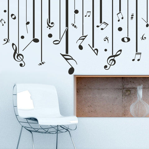 Wall Decal Decal Sticker Beautiful Notes Music Bedroom  z2676