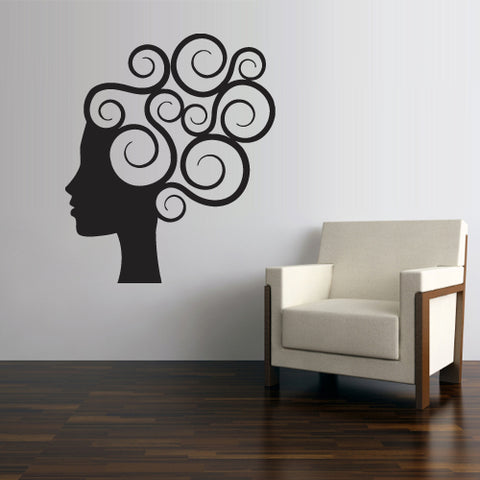 Wall Vinyl Decal Sticker Decals Haircut Salon Scissors Style Hair Fashion Girl  z2709