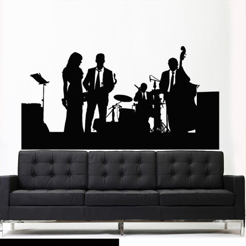 Wall Vinyl Decal Sticker Decal Jazz Band Instruments Music Concert Group  z2721