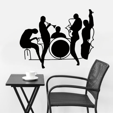 Wall Vinyl Decal Sticker Bedroom Decal Jazz Band Instruments Music  z2726