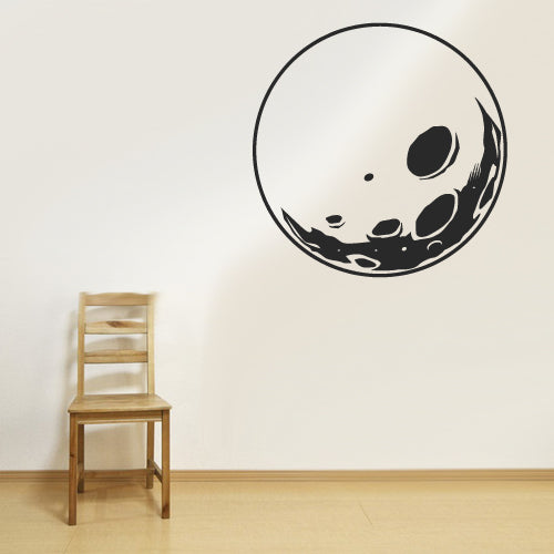Wall Vinyl Decal Sticker Bedroom Decal Nursery Kids Baby Moon Sputnik Planet  z2731