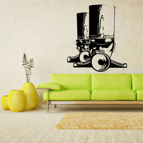 Wall Decal Vinyl Decal Sticker Musican Music Man Jazz Band Audio Retro Tube  z2732
