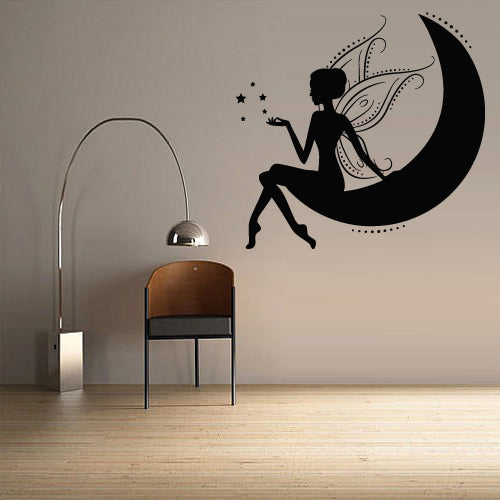 Wall Decal Vinyl Decal Sticker Nursery Kids Baby Crescent Magic Fairy Stars  z2760