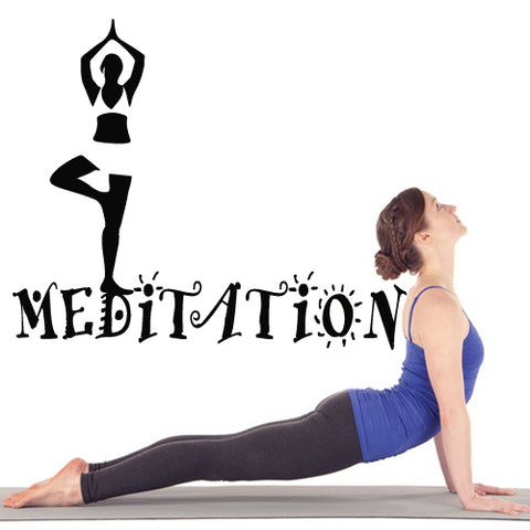 Wall Decal Vinyl Decal Sticker Decal Namaste Words Sign Letters Yoga Meditation  z2768