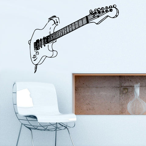 Wall Decal Vinyl Decal Sticker Decals Guitar Music Audio Notes Rock  z2777