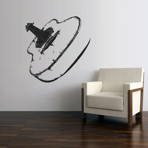 Wall Decal Vinyl Decal Sticker Acoustic Guitar Music Audio Notes Decor Art  z2781