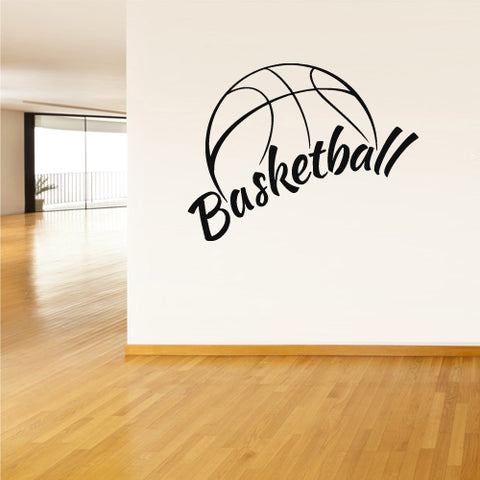 Wall Vinyl Decal Sticker Decals Basketball Ball Basket Sport Word Sign Quote  z2782
