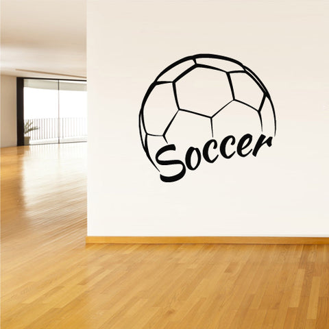 Wall Vinyl Decal Sticker Decals Soccer Football Ball Gates Sport Word Quote  z2804