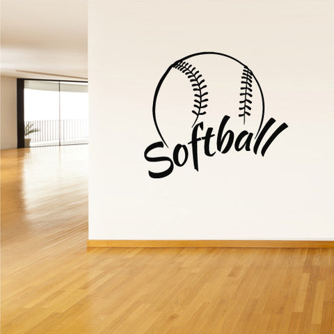Wall Vinyl Decal Sticker Decals Softball Ball Gates Sport Word Sign Quote  z2805