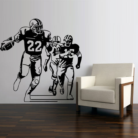 Wall Decal Vinyl Decal Sticker Football Rugby Sport Helmet Play American Man  z3000