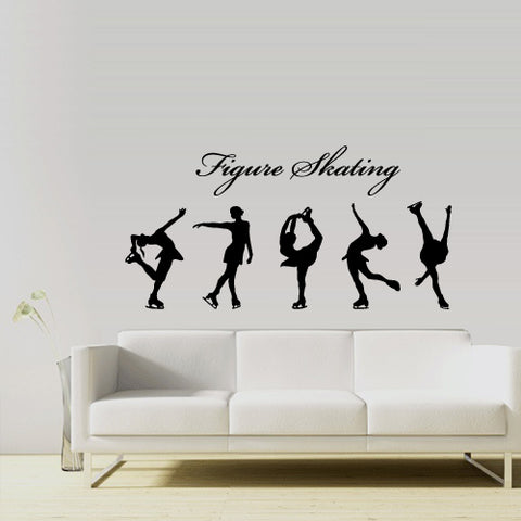 Wall Decal Vinyl Decal Sticker Decals Modern Figure Skating Sport Girl Gift  z3017
