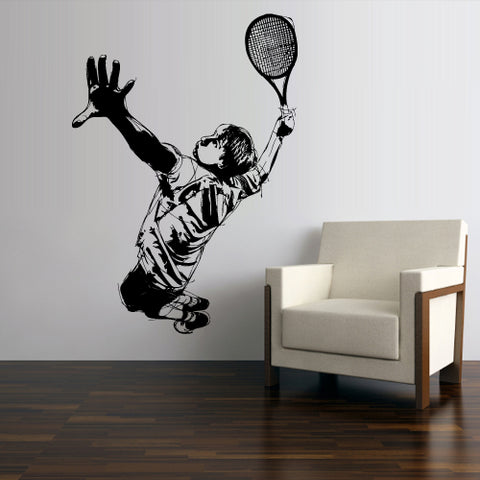 Wall Vinyl Decal Sticker Decal Dorm Kids Nursery Tennis Player Sport  z3062