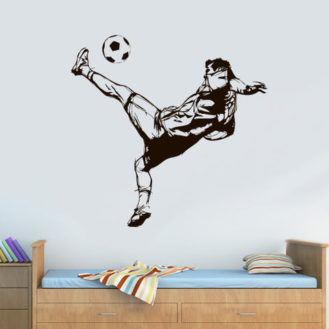 Wall Vinyl Decal Sticker Decal Kids Nursery Keeper Football Jump Soccer Sport  z3064