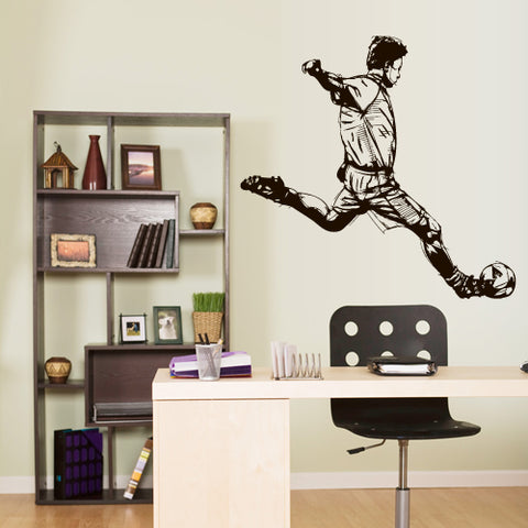 Wall Vinyl Decal Sticker Decal Kids Nursery Keeper Football Player Soccer Sport  z3065
