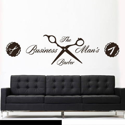 Wall Vinyl Decal Sticker Decals Haircut Salon Hairdresser Business Man Barber  z3084