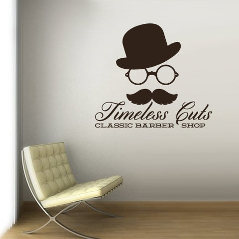 Wall Vinyl Decal Sticker Decals Mustache Haircut Salon Hairdresser Barber Shop  z3085