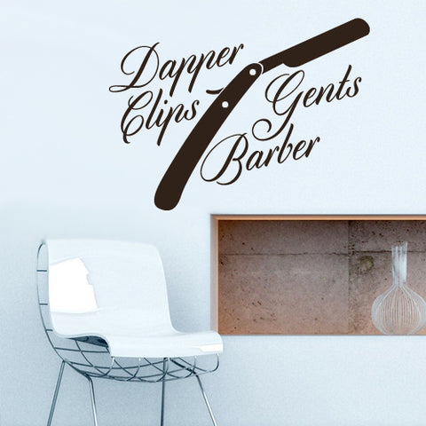 Wall Vinyl Decal Sticker Decals Haircut Salon Hairdresser Barber Shop Quote  z3086