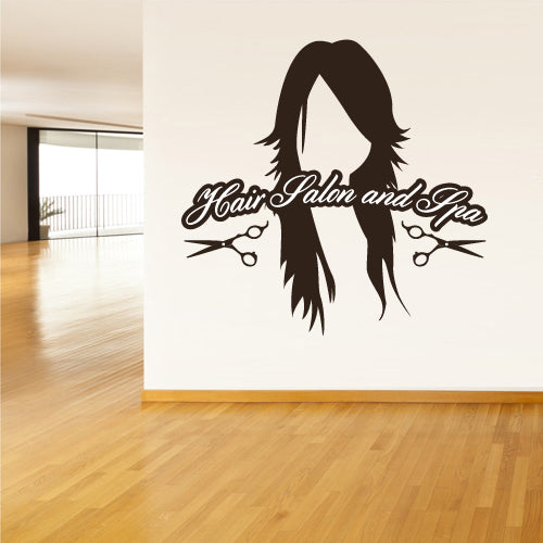 Wall Vinyl Decal Sticker Decals Salon Hairdresser Barber Spa Shop Sign  z3087