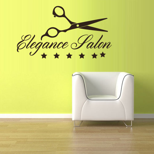 Wall Vinyl Decal Sticker Decals Scissors Hairdresser Barber Salon Shop Sign  z3088