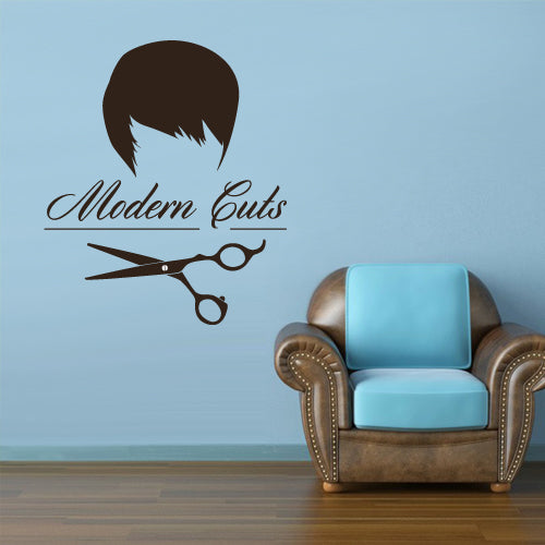 Wall Vinyl Decal Sticker Decals Scissors Hairdresser Barber Cuts Salon Shop  z3089