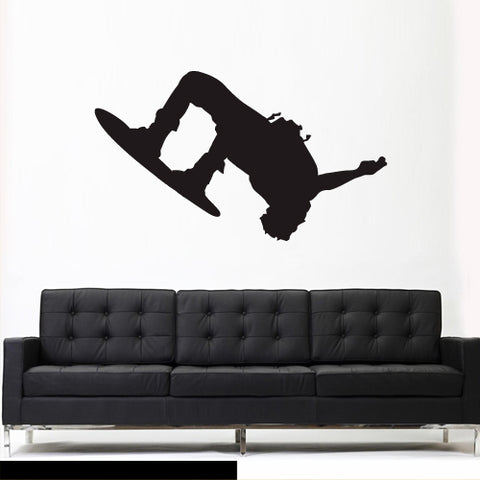 Wall Vinyl Decal Sticker Bedroom Snowboard Snow Skier Sport Snowboarder  z3097