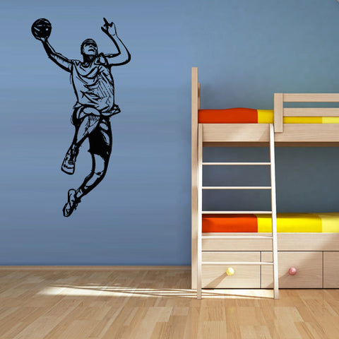 Wall Vinyl Decal Sticker Decal Decal Basketball Ball Sport Man Basket  z3105