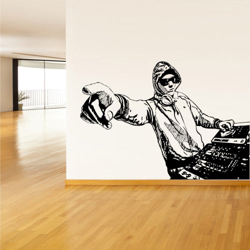 Wall Decal Vinyl Decal Sticker Corner Decals Dj Mix Waves Music Audio Gift  z3108