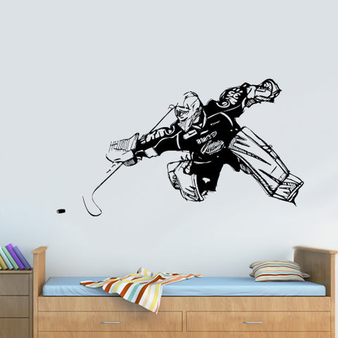 Wall Decal Vinyl Decal Sticker Decals Hockey Player Sport Forward Washer Gate  z3109