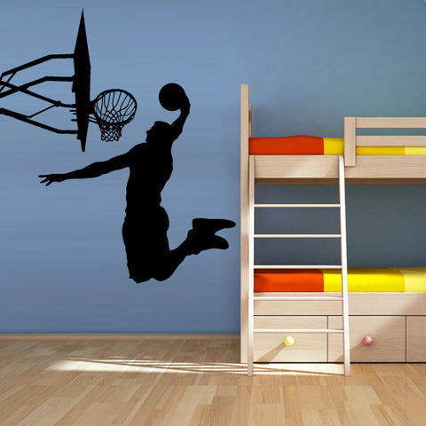 Wall Vinyl Decal Sticker Decal Modern La Lakers Basketball Ball Sketch Sport  z3113