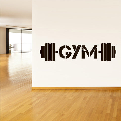 Wall Decal Vinyl Decal Sticker Gym Gymnastics Muscle Sport Man Rod Barbell  z3116