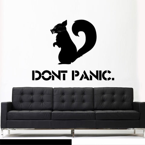 Wall Decal Vinyl Decal Sticker Squirrel Gas Mask Bedroom Interior Modern  z3134