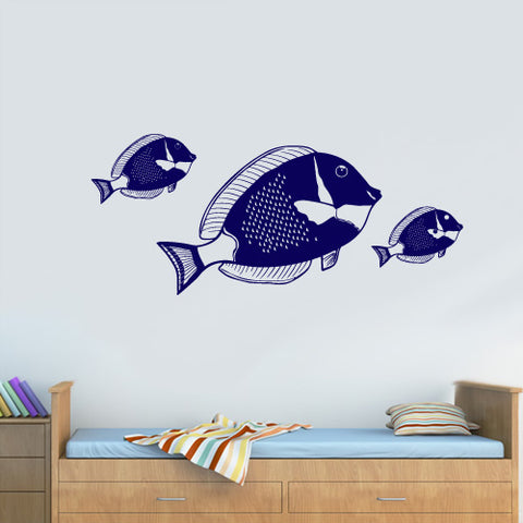 Wall Decal Decal Sticker Beautiful Cute Bathroom Fish Animals Bedroom  z3137