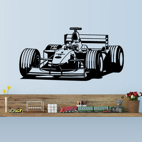 Wall Vinyl Decal Sticker decal Pilot Formula 1 Sport Car Racing Kids Nursery  z3153