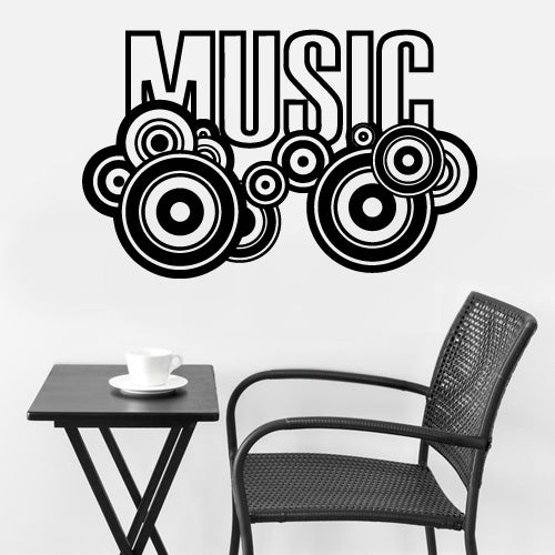 Wall Vinyl Decal Sticker Decals Art Sign Quote Lettering Words Music Plate  z3154
