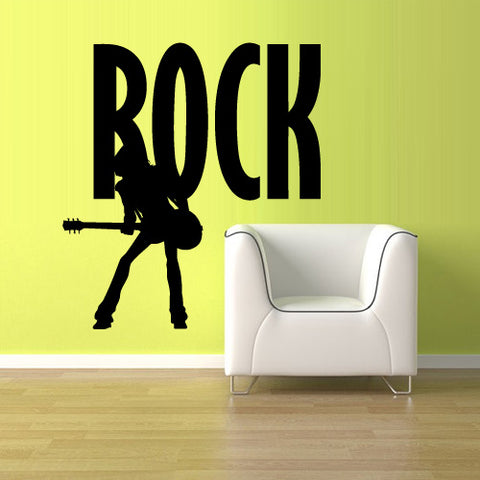 Wall Decal Vinyl Decal Sticker Rock Wording Lettering Words Sign Quote  z3155