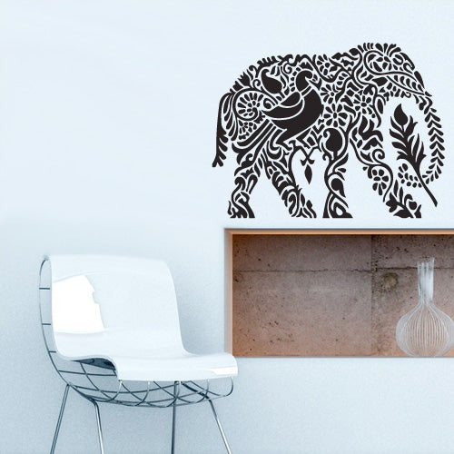 Wall Vinyl Decal Sticker Bedroom Decal Ganesh Om Elephant Tattoo Mandala Tribal  z3160