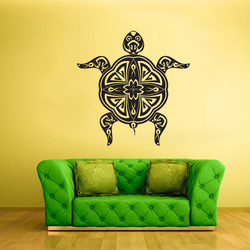 Wall Vinyl Decal Sticker Bedroom Decal Tribal Tortoise Tortuga  z459