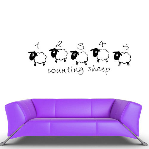 Wall Vinyl Decal Sticker Bedroom Decal Funny Cartoon Kids Baby Sheeps  z465