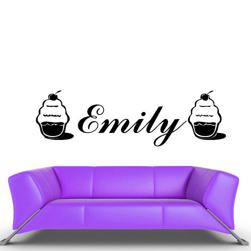 Wall Vinyl Decal Sticker Bedroom Decal Custom Name Words Cake Pie  z468