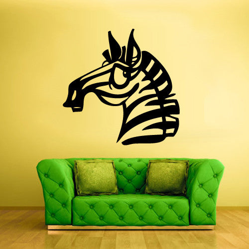 Wall Vinyl Decal Sticker Bedroom Decal Funny Cartoon Zebra Horse Kids Baby  z483
