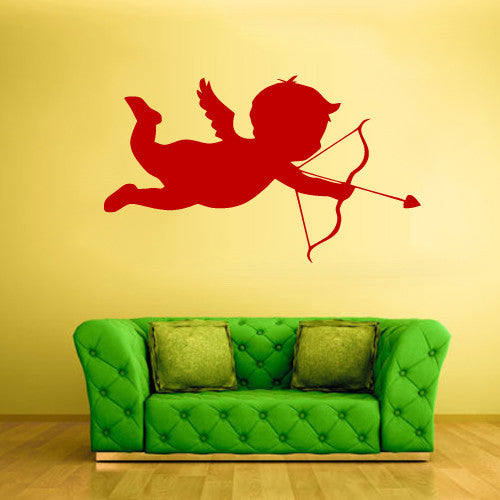 Wall Vinyl Decal Sticker Bedroom Decal Funny Cupid Love Angel  z492