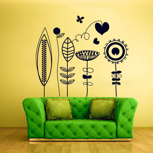 Wall Vinyl Decal Sticker Bedroom Decal Flowers Modern Fashion  z501