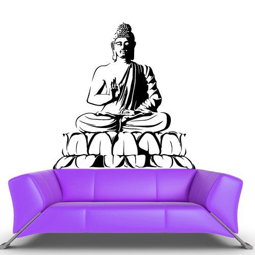 Wall Vinyl Decal Sticker Bedroom Decal Buddha God Indian  z503