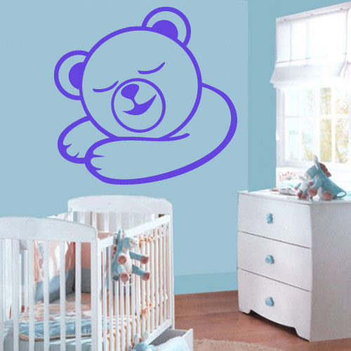 Wall Vinyl Decal Sticker Bedroom Decal Nursery Baby Kids Bear  z505