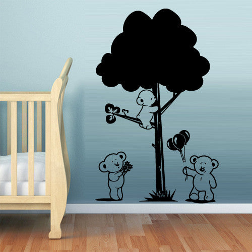 Wall Vinyl Decal Sticker Bedroom Decal Nursery Bears Tree Baby Kids  z507